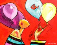 Ballons poisson 120 x 80 cm
