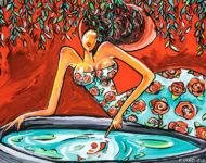 Bassin des amoureux 120 x 80 cm
