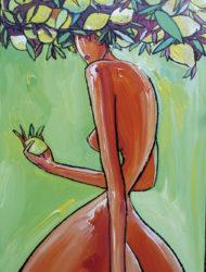 Femme arbre citron 60 x 120 cm