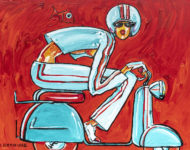 Scooter d'avril 130 x 97 cm