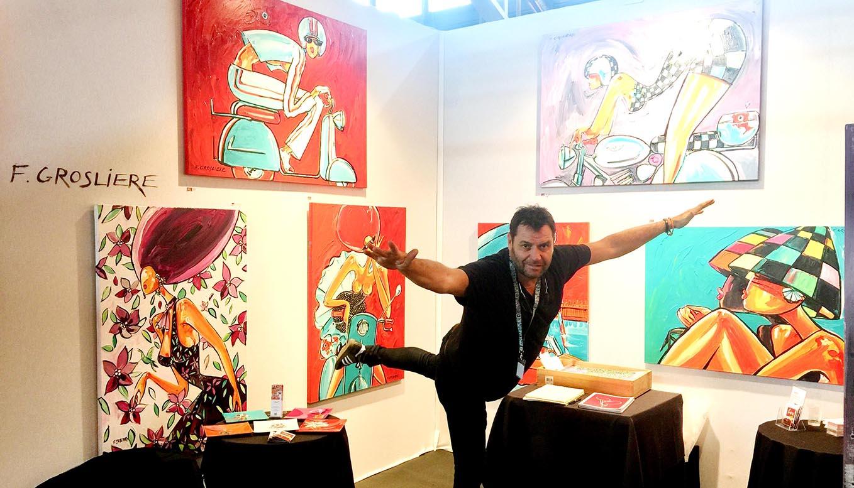 sur les salons d'art contemporain - artiste peintre françois grosliere