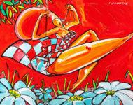 Balançoire à carreaux 118 x 89 cm
