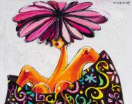 Chapeau Fleur 130 x 97 cm