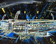 Tableau dans les Suites de l'Asm Stade Marcel Michelin