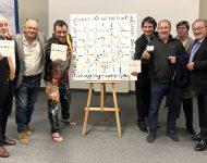 Tableau réalisé pour la Fondation Trait d'Union Auvergne