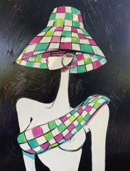 Femme blanche noir  97 x 130 cm