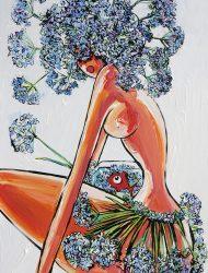 Agapanthe douce 80 x 130 cm
