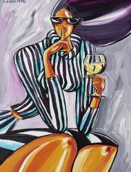 Apéro vin blanc  97 x 130 cm