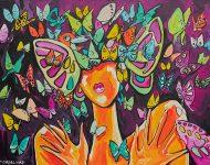 Princesse papillon 130 x 96 cm